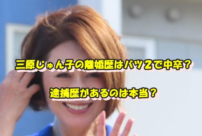 三原じゅん子 離婚歴 中卒